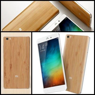 Desain  Xiaomi Mi Note Natural Bamboo Edition