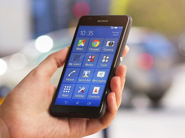 Sony Xperia E4G Dual On Hand