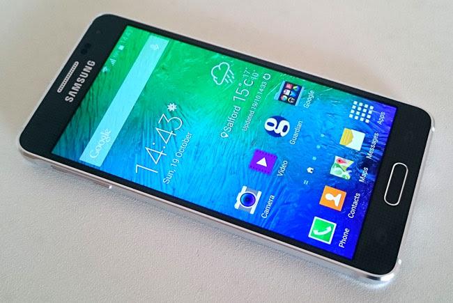 Tampilan Samsung Galaxy Alpha
