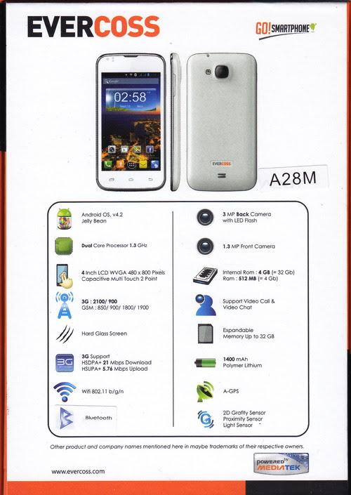 Spesifikasi Evercoss A28M