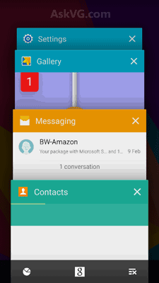 Recent Apps Android Lollipop