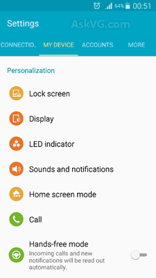 Setting Android Lollipop