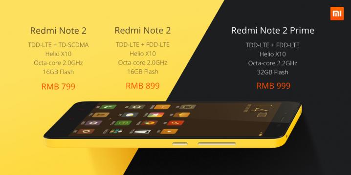 Spesifikasi Redmi Note 2 dan Prime