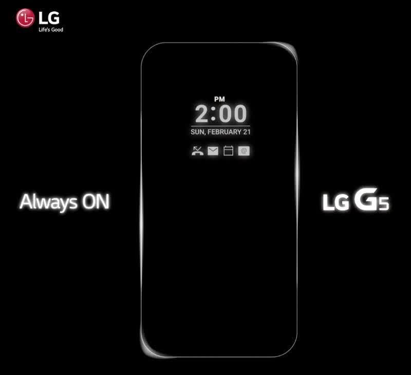 Always On LG G5