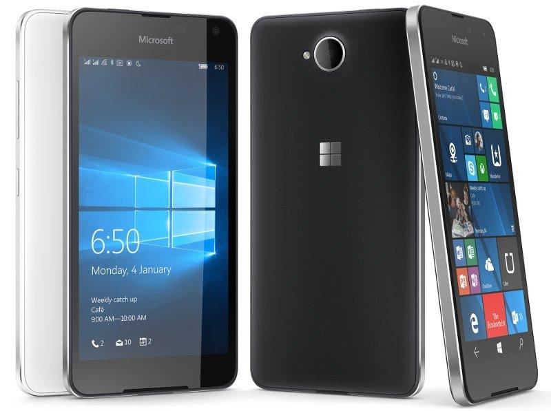 Desain Microsoft Lumia 650