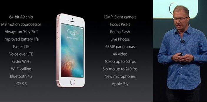 Spesifikasi iPhone SE