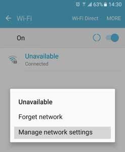Pengaturan Wi-Fi Android