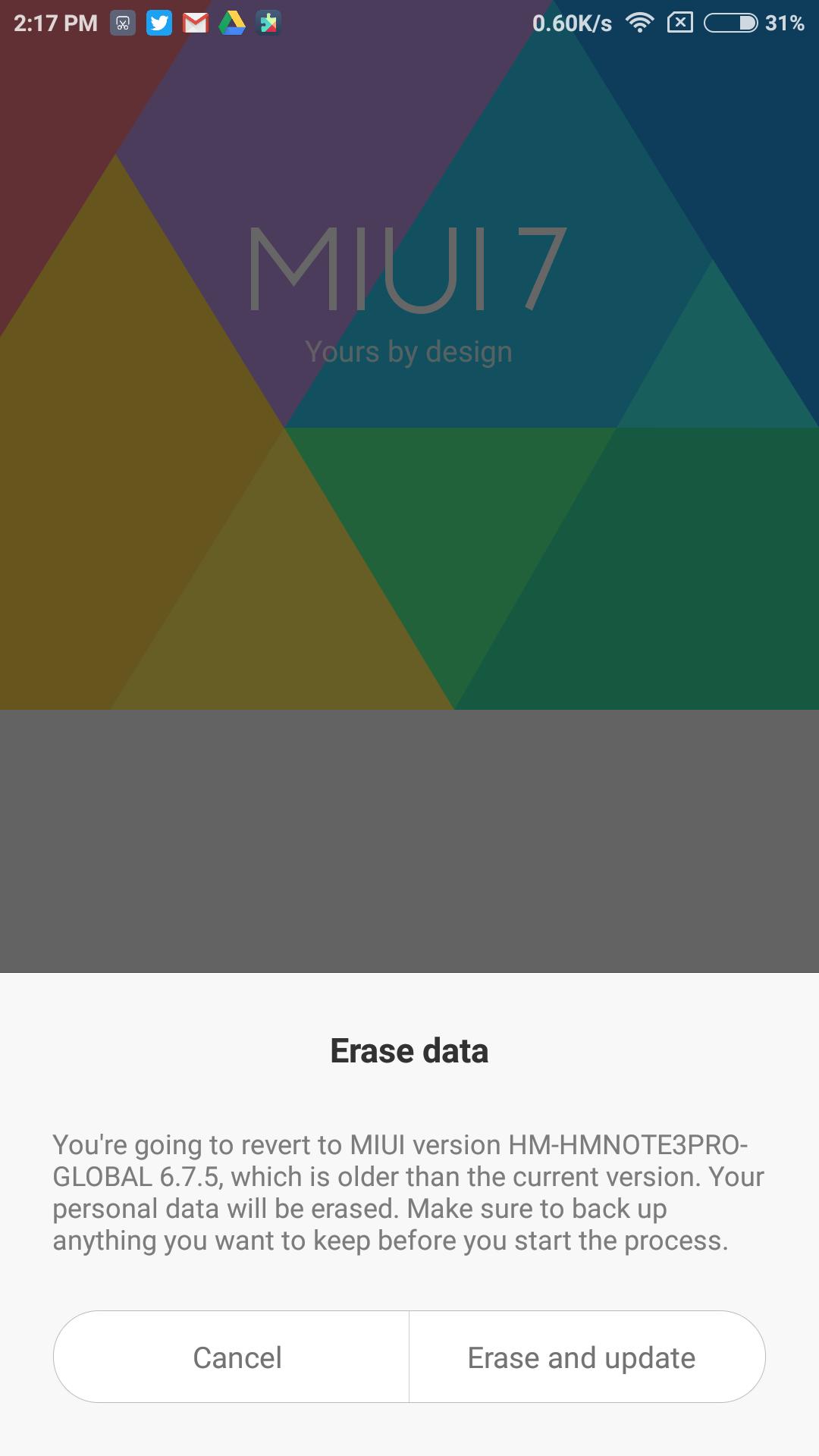 Updater Xiaomi Redmi Note 3
