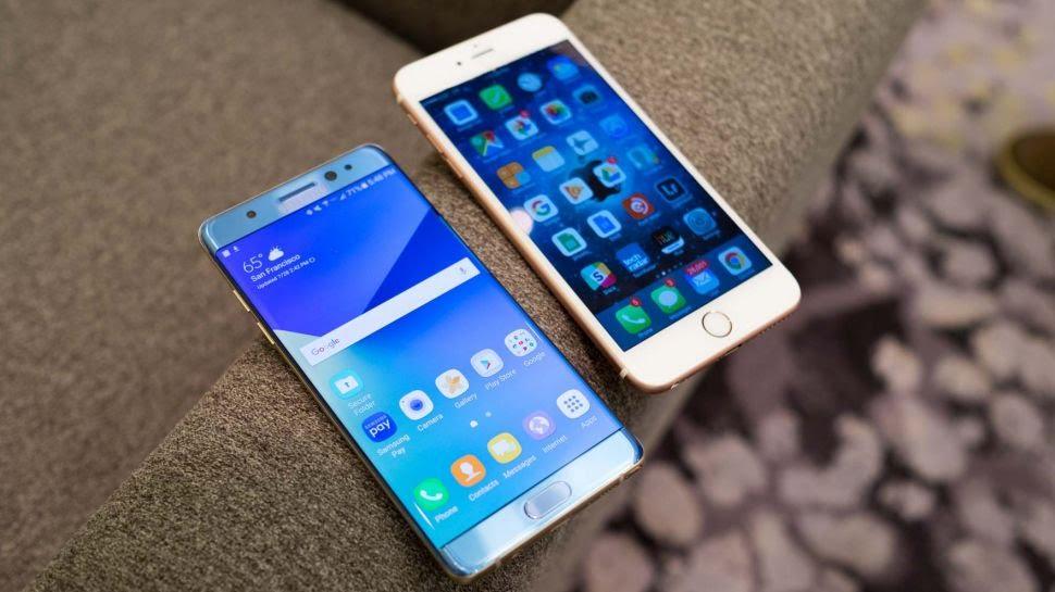 Apple iPhone 7 Plus dan Samsung Galaxy Note 7
