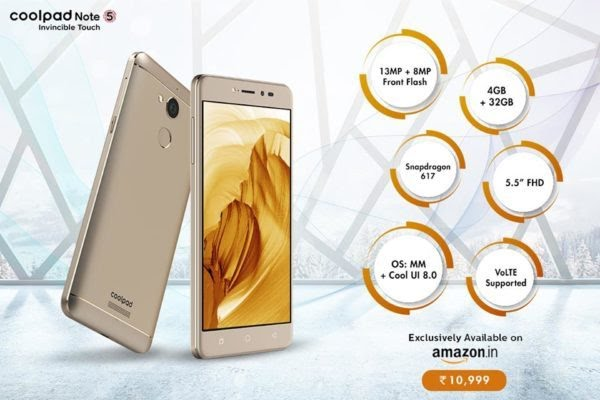 CoolPad Note 5 Promo
